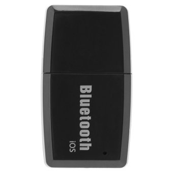 Portable USB Bluetooth 4.1 Music Receiver Wireless Stereo Audio Adapter Car Kit Black iOS - intl