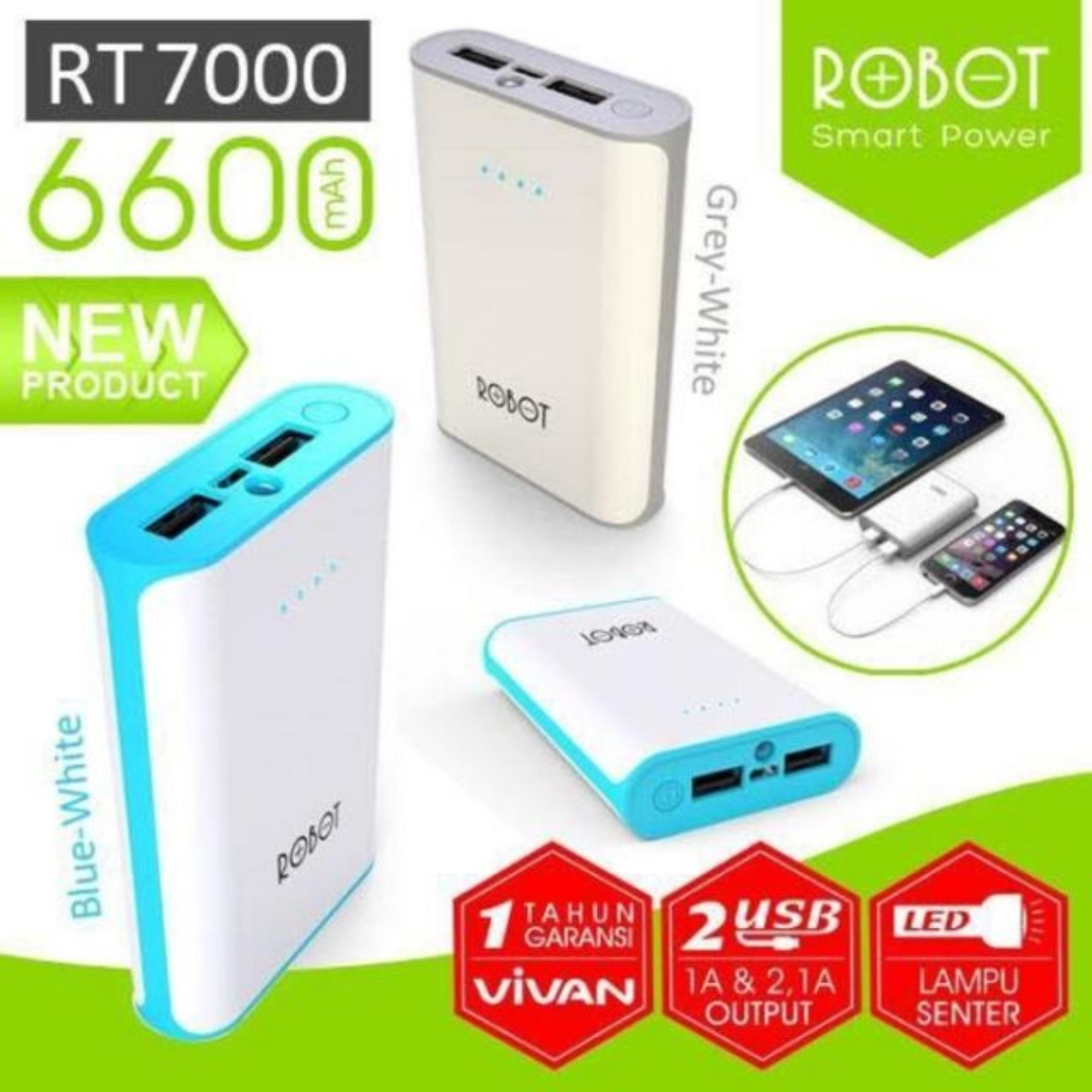 Powerbank Robot Rt7100 6600mah Daftar Harga Terbaru Terlengkap Rt 7100 Power Bank 2 Port Usb Review Of