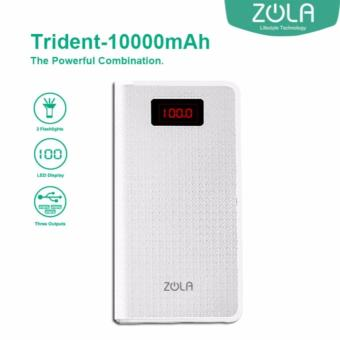 Powerbank Zola Trident 10000 mAh Fast Charging 2.1A - White