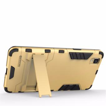 ProCase Shield Rugged Kickstand Armor Iron Man PC+TPU Back Covers for Oppo F1 .