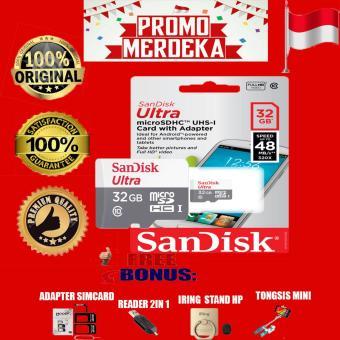 Promo Merdeka Sandisk Memory Card Ultra Micro SDHC class 10 48MB/s - 32GB +