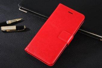 PU Kulit Dompet Mewah Flip Stand Cover Case untuk BBK VIVO V3 Y53 Y53T (Merah