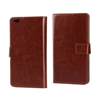 PU Leather Wallet Case Cover for HTC One X9(Brown) - intl