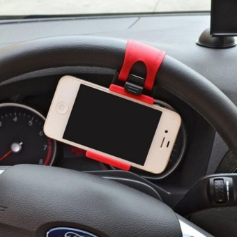 Q-shop Car Mobile Phone Mount Holder for Phone Washable Strong Sticky Gel Pad with One-Touch Design - intl