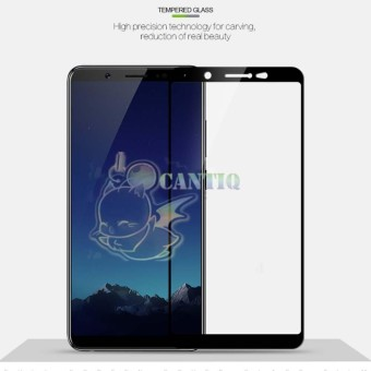QCF Tempered Glass Full Screen Vivo V7 (Only Depan) / Screen Protector Vivo V7  / Temper Vivo V7 / Anti Gores Kaca Vivo V7 - Hitam