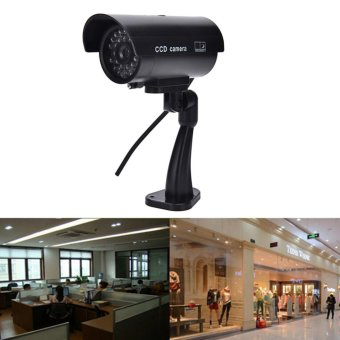Quality Dummy Fake Outdoor Indoor Security Camera Night Blinking LED Black - intl