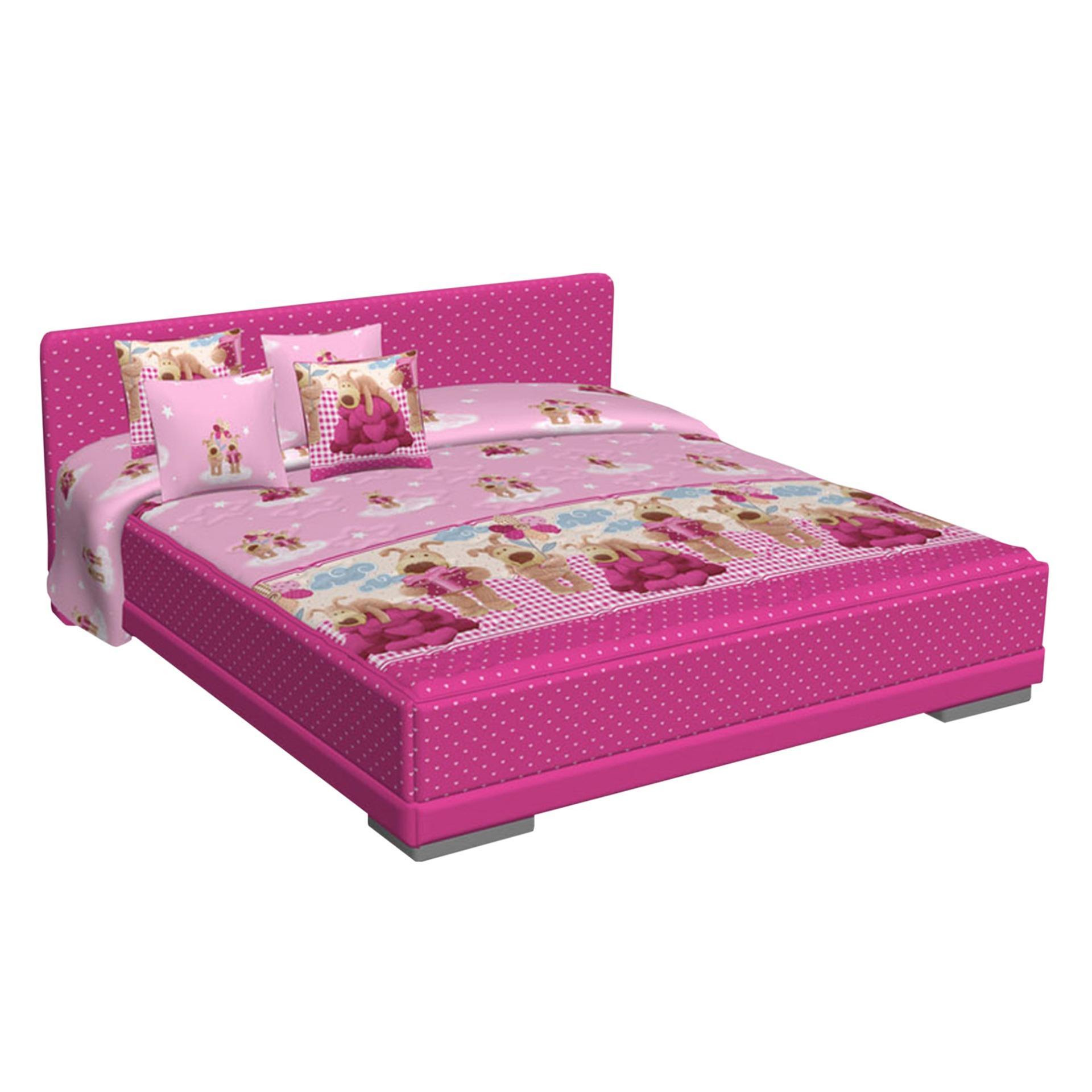 Quantum Springbed Millennium Teen HB Charlton Size 90 x 200 - Full Set - Pink -