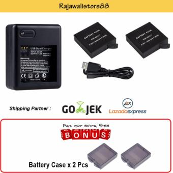 Rajawali 2 Battery AZ-16-1 + USB Charger Dual Slot For Xiaomi Yi
