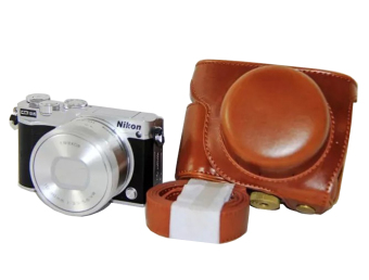 Rajawali Leather Case for Nikon J5 - Cokelat