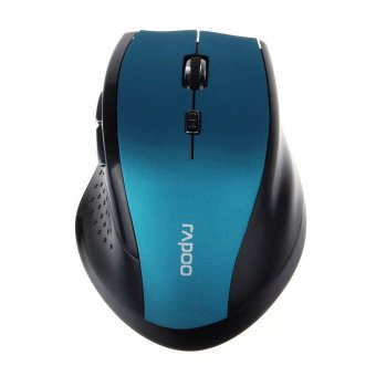 RAPOO 2.4 GHz Wireless Gaming Mouse Optik Komputer PC Laptop For TIKUS (Biru)