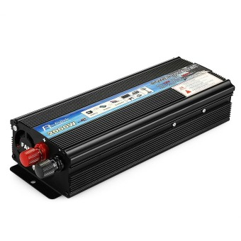 Rectangle Car Inverter 2000W DC 12V AC 220V Vehicle Power Supply Switch On-board Charger - intl