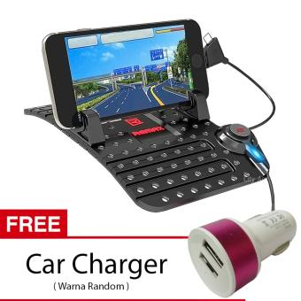 Remax Car Holder with Charging USB Cable - Multifungsi Mount Mobil - Black + Free Car Charger ...