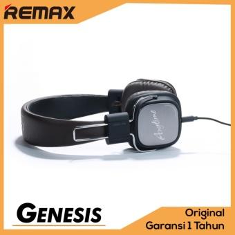 Remax Headphone Headset RM-100H Elegant Design Premium PU Leather Foldable With Microphone Black