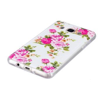 Rose flower Noctilucent TPU Soft Gasbag Back Case Cover For Samsung Galaxy J7 .