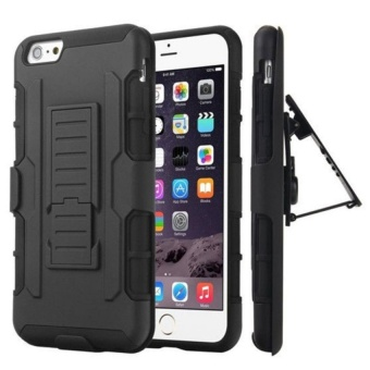 Rugged Armor Hybrid Impact Case Belt Clip Holster Stand Hard Cover For Iphone 7 - Black