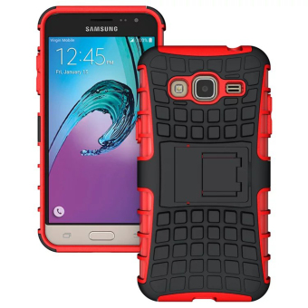 RUGGED ARMOR Samsung Galaxy J3 2016 J320 Case Shockproof Casing Cover Softcase Dual Layer Hardcase Stand