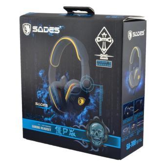 ... SADES SA 708 Stereo Headset With Mikrofon Komputer Game And Terpencil Kuning