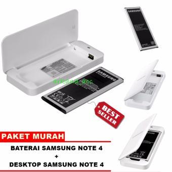 Samsung Baterai Galaxy Note 4 + Desktop / Extra Battery Kit Samsung Galaxy note 4 Original