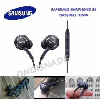 Samsung Earphone/Handsfree Audio Stereo for Samsung Galaxy S8 by AKG Original - Hitam
