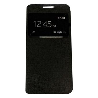 Samsung Galaxy J7 Prime Ume Flipcase Flipshell Leather Casing Hp-Hitam