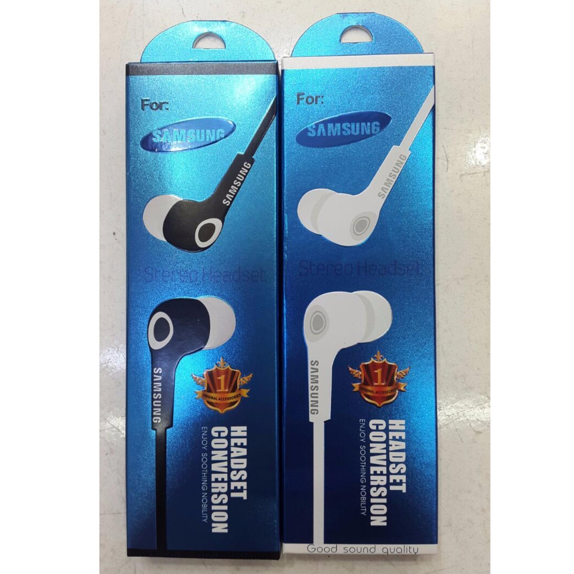 Handsfree Headset Earphone For Samsung S4j7j5 In Ear Bud Microphone Putih Bandingkan Toko Conversion Stereo Warna Random Harga Baru Hanya Rp68