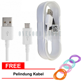 Samsung Kabel Data for Samsung Galaxy Note 4 Original free Pelindung Kabel - Putih