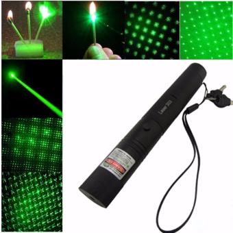 Senter Laser Hijau Jarak Jauh Laser Pointer Rechargebel