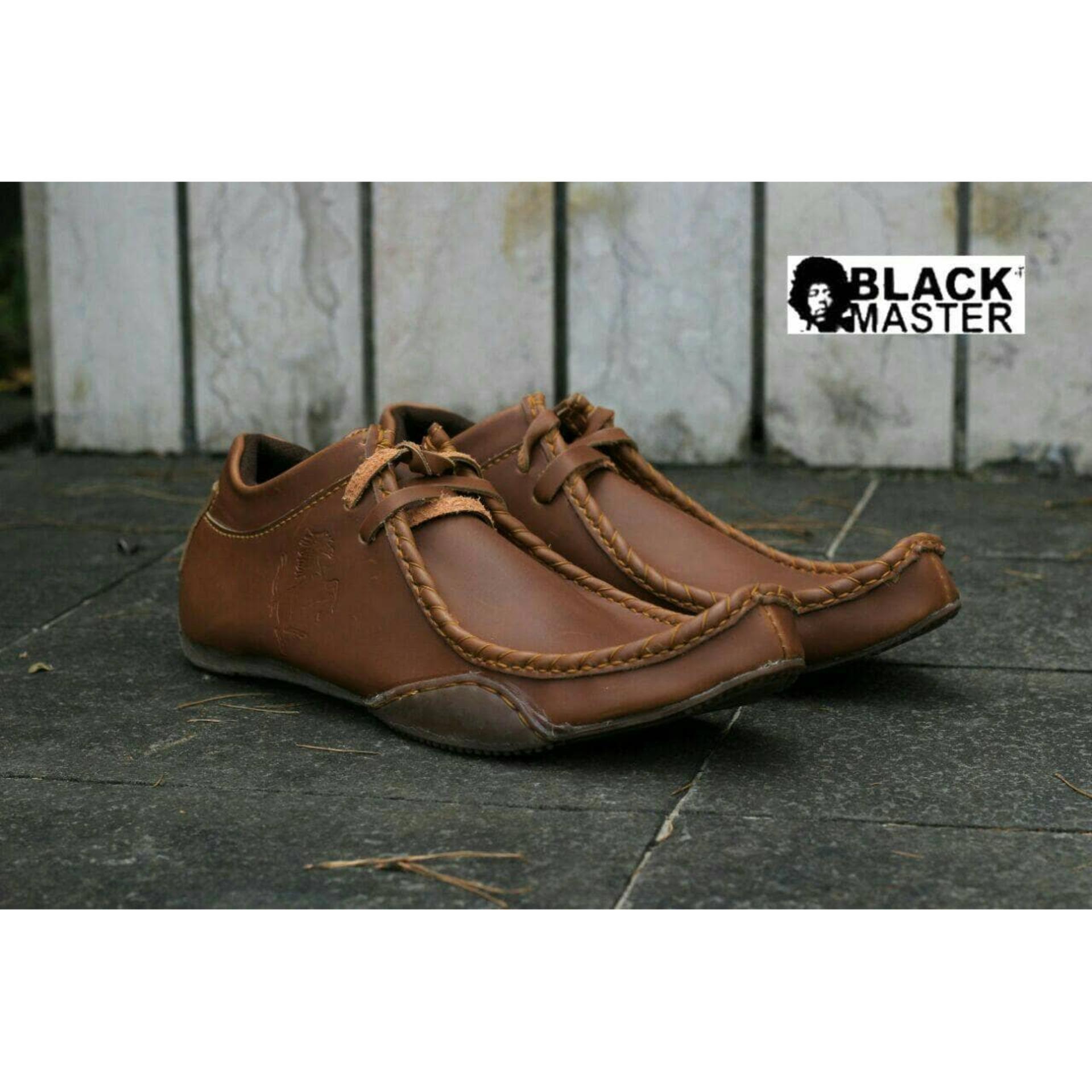 Sepatu Kulit Pria Semi Boots Pansus Black Master Original - Smart4K ... 235acf5784