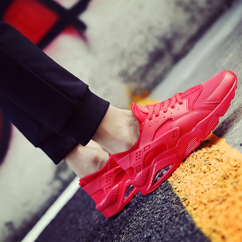 Sepatu Kanvas Pria Sol Dalam Empuk Jenis Kain Jaring Olahraga (Merah)