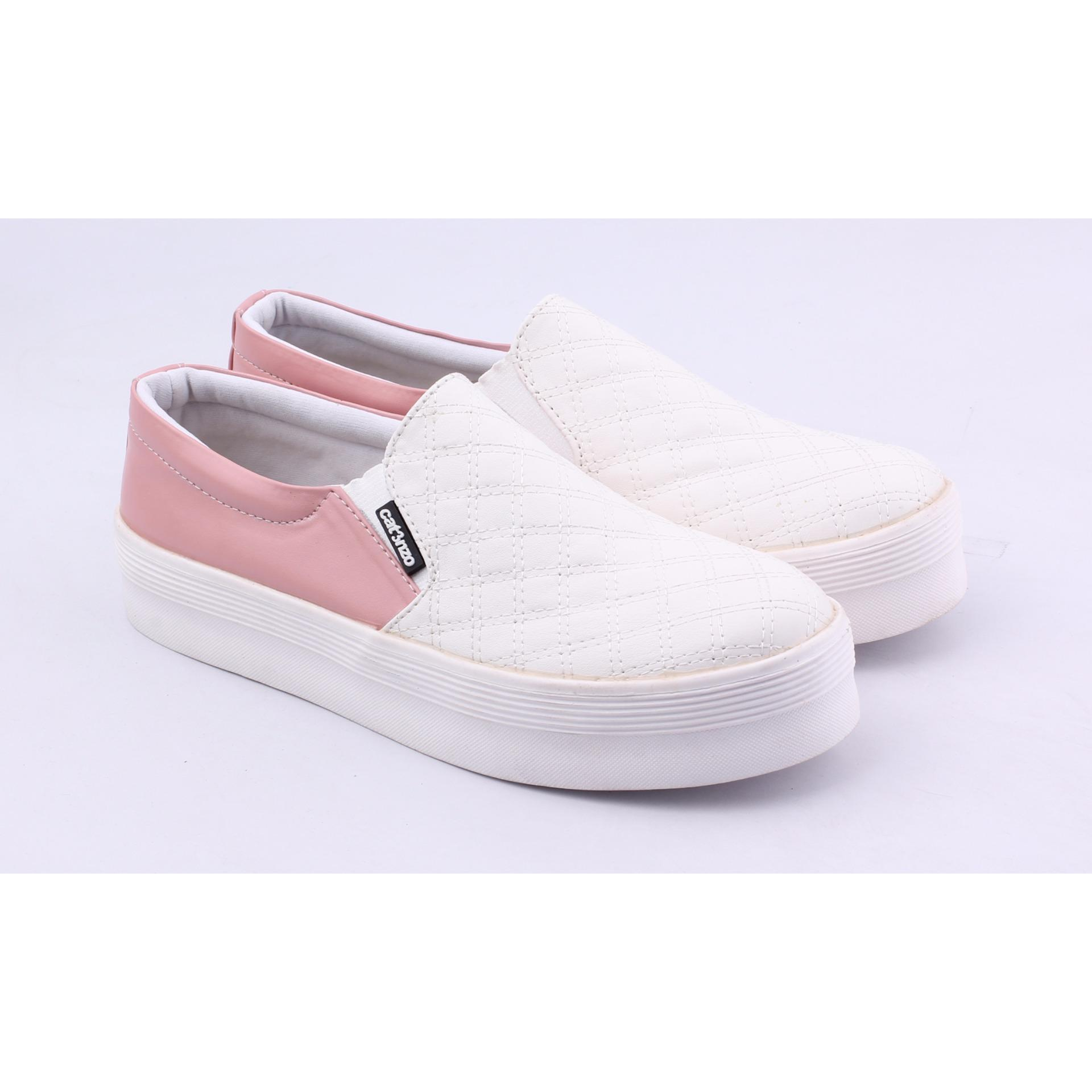 Cek Harga Baru Sepatu Sneakers Kets Wanita Catenzo Dh 060 White Pink ... 9a5b1abf33