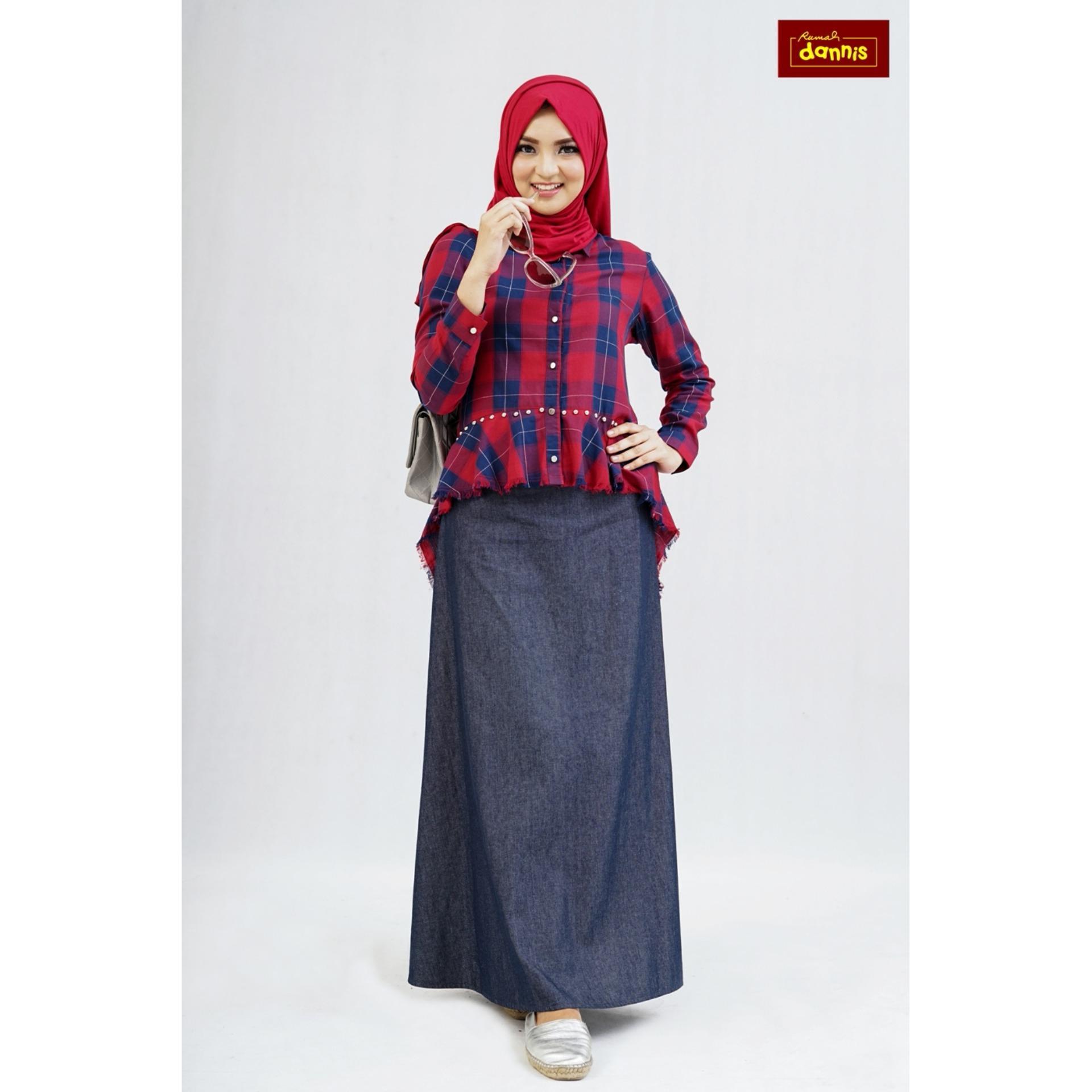 Cek Harga Baru Setelan Rok Dewasa Dannis Baju Muslim Sarimbit