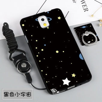 Silica Gel Soft Phone Case for Samsung Galaxy Note 3 (N9000) with a Rope