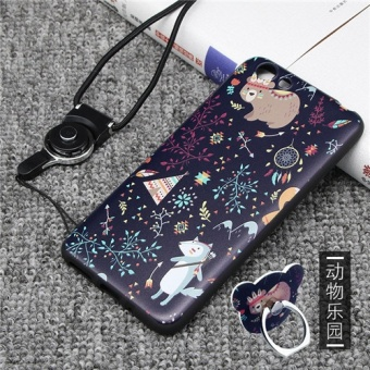 Silica Gel Soft Phone Case for VIVO Y53 with a Rope (Multicolor) - intl