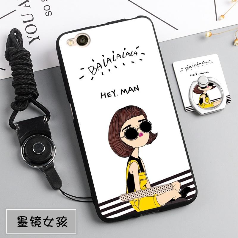 Discount Silica Gel Soft Casing Ponsel untuk Xiaomi Redmi 4A dengan Tali dan Ring (Multiwarna