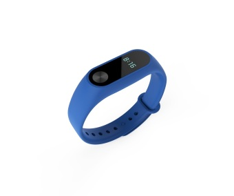 Silicone Wrist Strap WristBand Bracelet Replacement for XIAOMI MIBand 2 Tracker in Dark Blue - intl