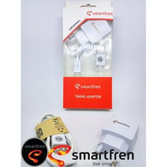 Smartfren Usb Travel Charger + Cable Data Micro - Putih