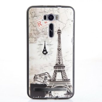 Soft TPU 3D Embossed Painting Cover Case For Asus Zenfone 2 LaserZE601KL(Map tower)