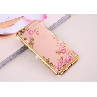 Soft TPU Secret Garden Diamond Bumper Case Cover untuk Vivo V5/V5s/Y67-