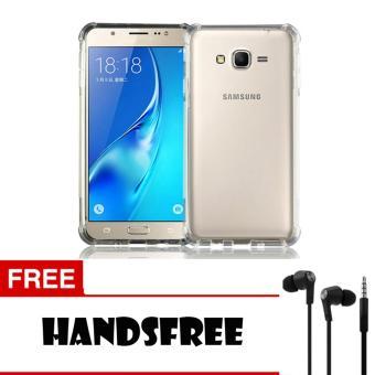 Softcase Anti Crack Anti Shock For Samsung Galaxy J2 Prime Aircase - Putih Transparant + Free Handsfree ...