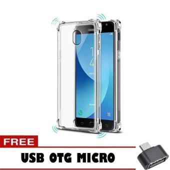 Softcase Anti Crack Anti Shock For Samsung Galaxy J5 Pro Aircase - Putih Transparant + Free Usb Otg ...