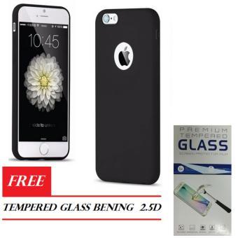 Softcase Apple IPhone 6 Plus / 6s Plus 5.5inch Silicone Slim Case Full Black Matte