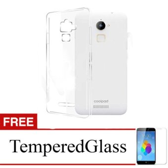 Softcase for CoolPad Roar Plus / E570 - Clear + Gratis Tempered Glass - Ultra Thin