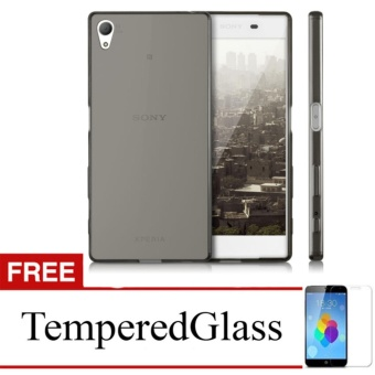 Softcase for Sony Xperia T2 Ultra / D5303 - Abu-abu + Gratis Tempered Glass - Ultra Thin