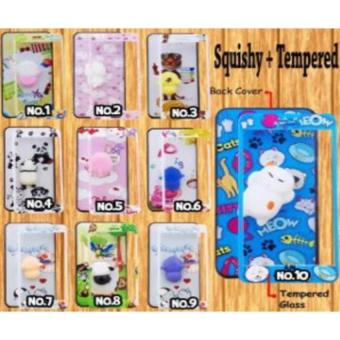 Softcase Karakter Squishy With Tempered Glass Motif senada For VIVO Y53 (GAMBAR RANDOM) AKIO_SHOP