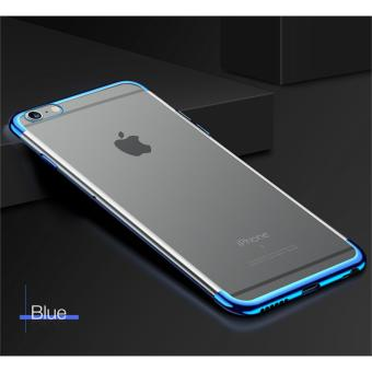 Softcase Neon Clear Iphone 6 / 6s Case Silicon Casing Transparant - BIRU
