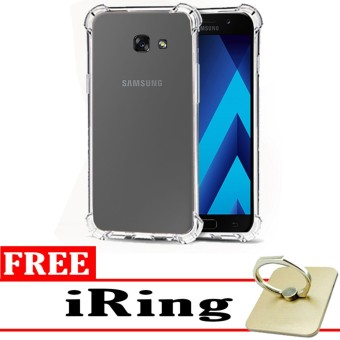 Softcase Silicon Anti Shock / Anti Crack Elegant Softcase  for Samsung Galaxy A3 2017 (A320) - White Clear + Free iRing