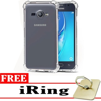 Softcase Silicon Anti Shock / Anti Crack Elegant Softcase  for Samsung Galaxy J1 Ace - White Clear + Free iRing