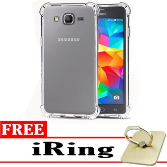 Softcase Silicon Anti Shock / Anti Crack Elegant Softcase  for Samsung Galaxy J2 Prime - White Clear + Free iRing