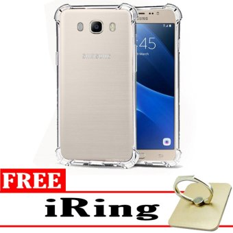 Softcase Silicon Anti Shock / Anti Crack Elegant Softcase  for Samsung Galaxy J5 2016 (J510) - White Clear + Free iRing