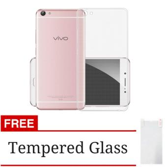 Softcase Ultrathin Silicon Jelly Case For Vivo V5 / Y67 - Clear + Gratis Tempered Glass